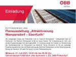 ÖBB-Infoveranstaltung zum Ausbau der Pottendorfer Linie am 21. Juli 2021 im Festsaal der Alten Spinnerei!