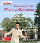 Erinnerungen an Peter Alexander – Ausverkaufte Festzeltshow im Schlosspark!
